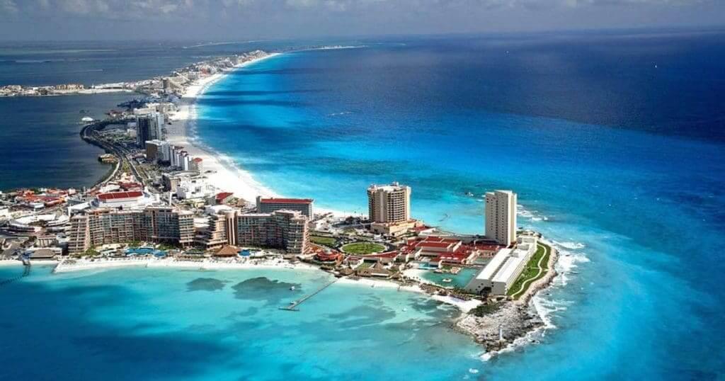Azul do mar em Cancún