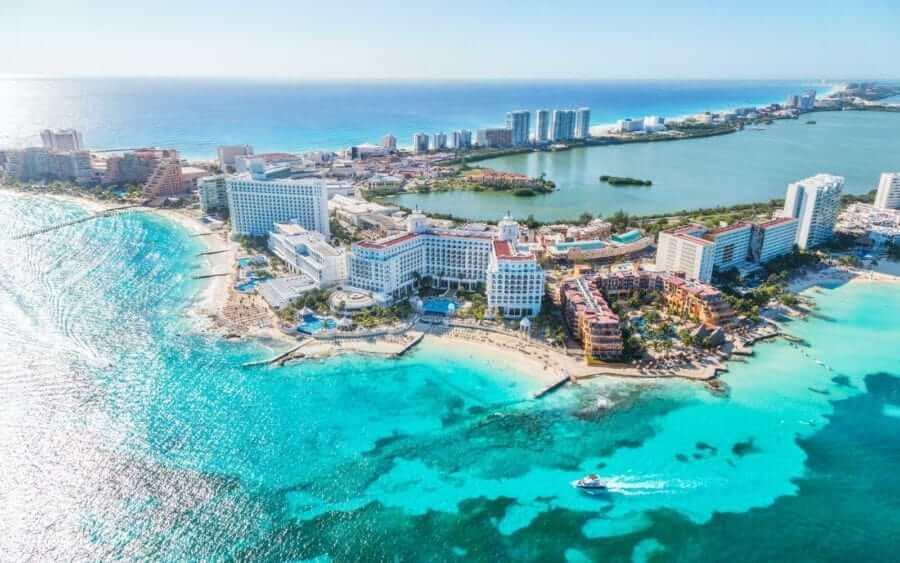 Região de praias em Cancún