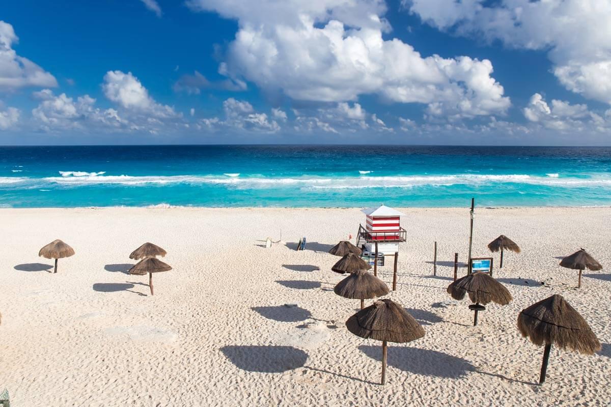 Praia dos golfinhos em Cancún