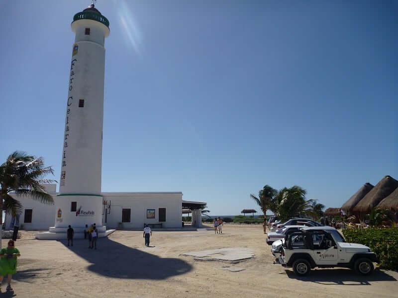 Faro Celarain na Ilha Cozumel em Cancún