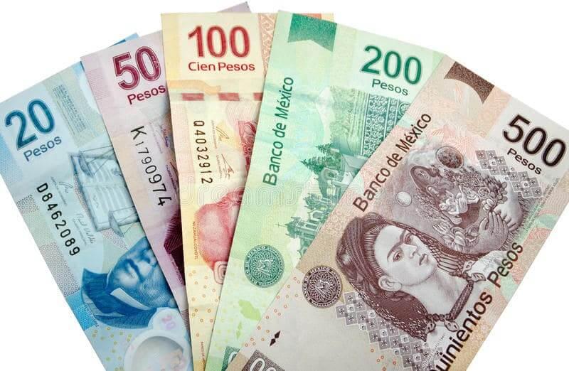 Pesos para uma viagem ao México