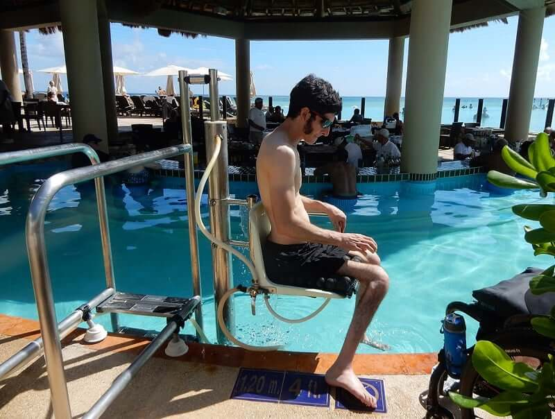 Deficientes físicos em Cancún