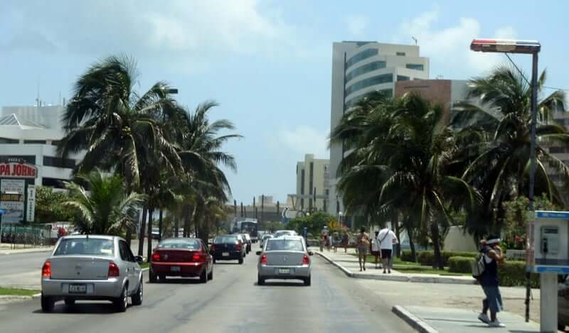 Avenida Tulum em Cancún