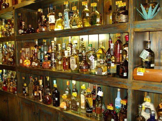 Tequilas no Museu Sensorial da Tequila em Cancún