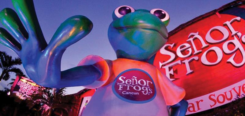 Estrutura da balada e bar Señor Frog's em Cancún