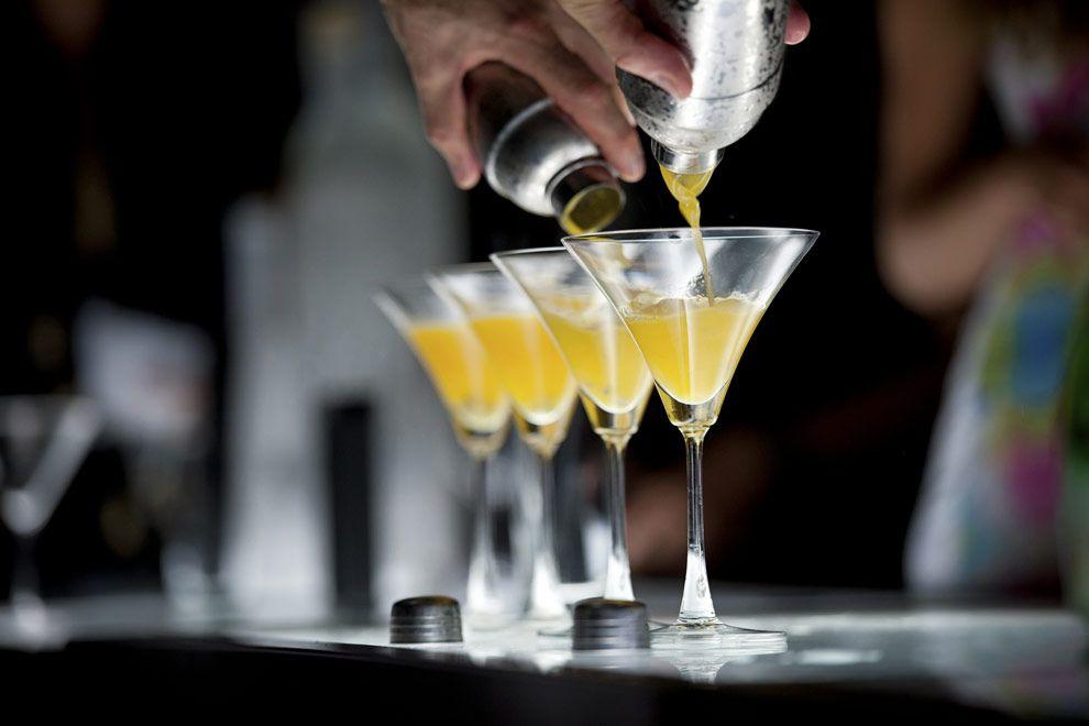 Bebidas na balada The City em Cancún