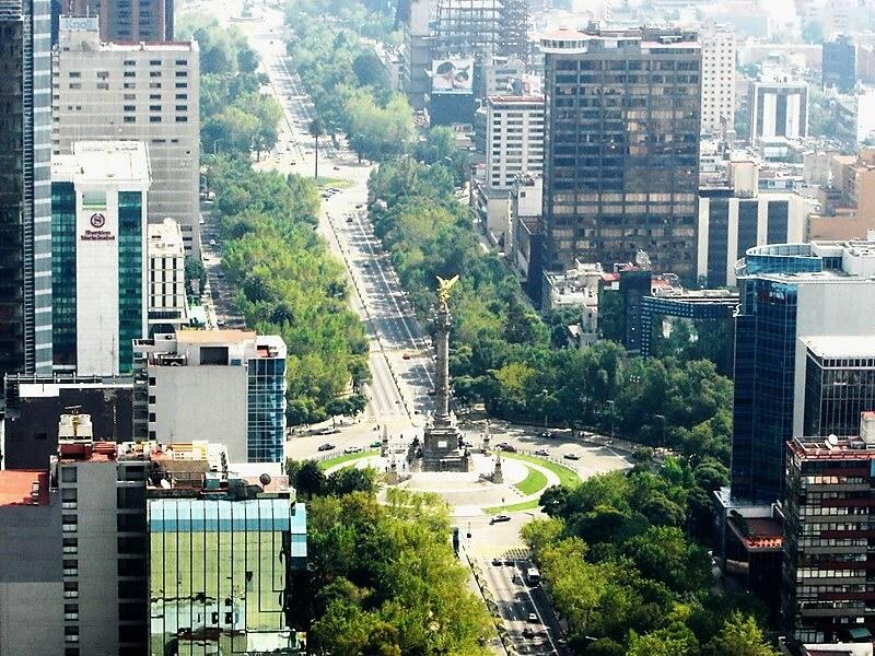 Onde ficar na Cidade do México: Avenida Paseo de La Reforma