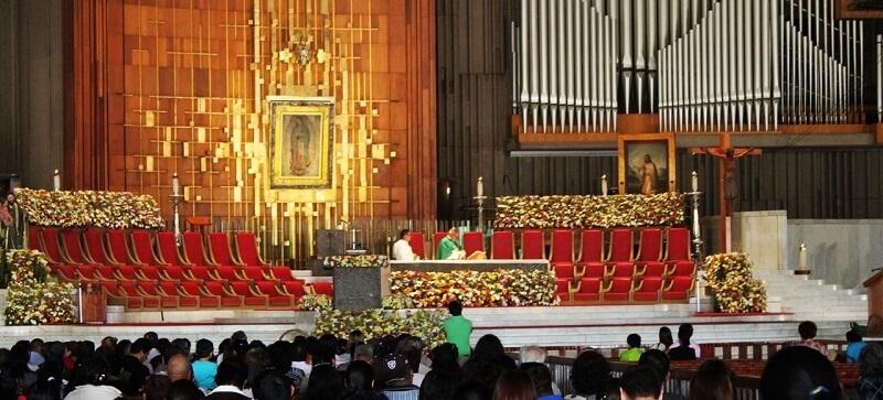 Inverno conhecendo a Basílica de Guadalupe na Cidade do México