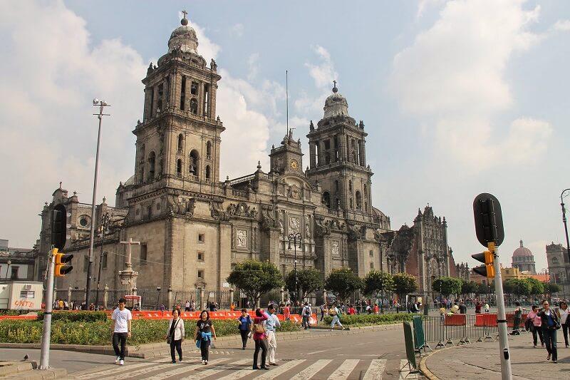 Verão no Centro Histórico da Cidade do México
