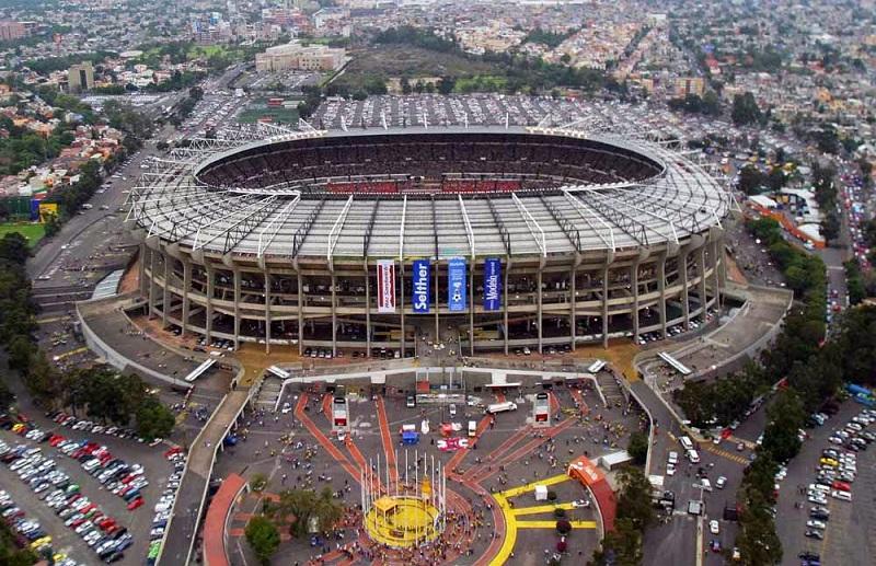 Beleza do estádio Azteca na Cidade do México