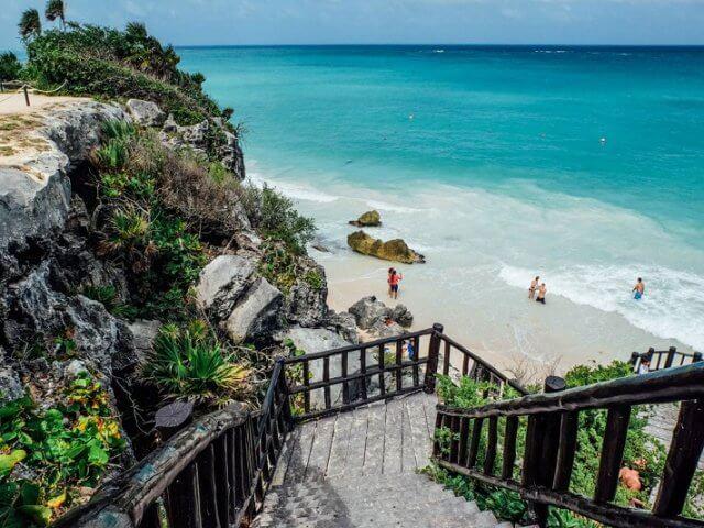 Pontos turísticos em Tulum no México