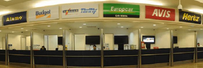 Agências de aluguel de carro no aeroporto de Cancún