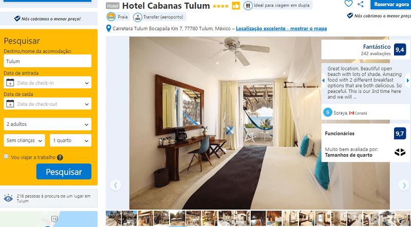 Estadia no Hotel Cabanas Tulum