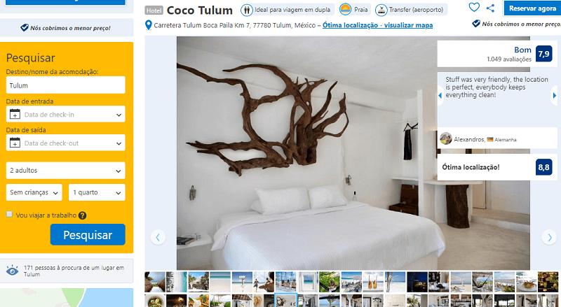 Estadia no Hotel Coco Tulum em Tulum