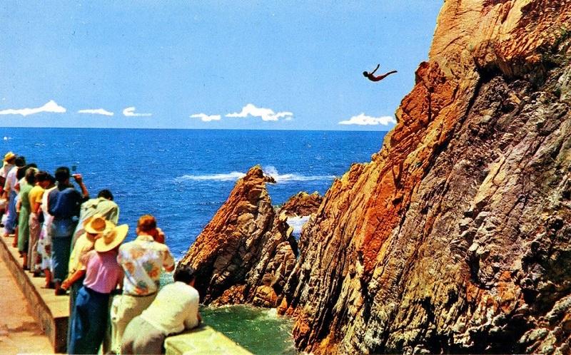 Saltar no La Quebrada em Acapulco