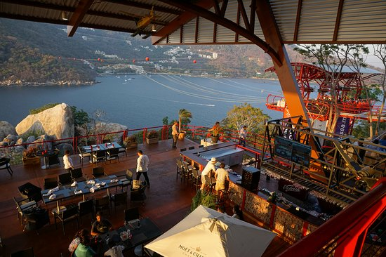Estrutura da Xtasea Tirolesa em Acapulco