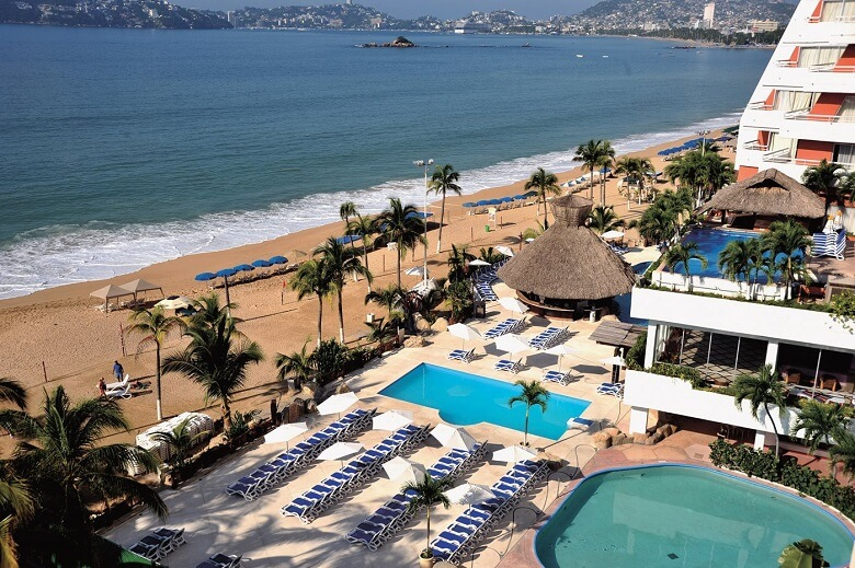 Hotéis no centro turístico de Acapulco