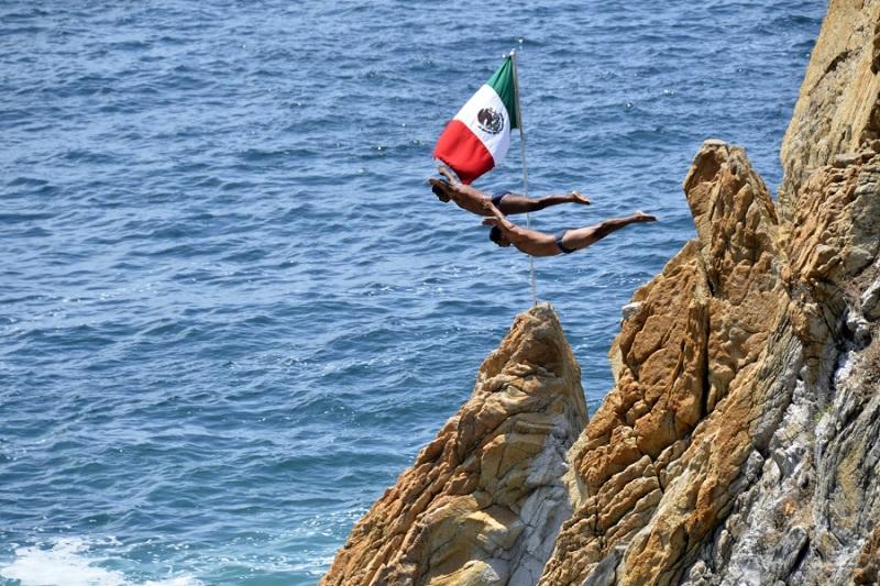 La Quebrada no Ano Novo em Acapulco