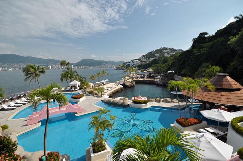 Hotel no centro turístico Las Brisas em Acapulco