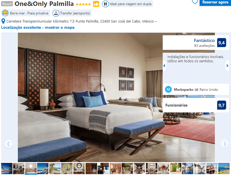 Quarto do Hotel One&Only Palmilla em Los Cabos em San José del Cabo