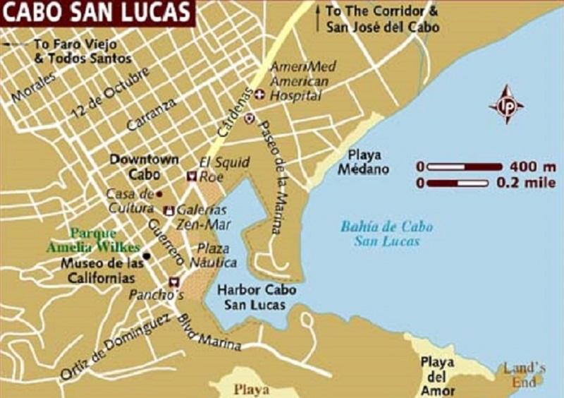 Mapa da cidade Cabo San Lucas em Los Cabos
