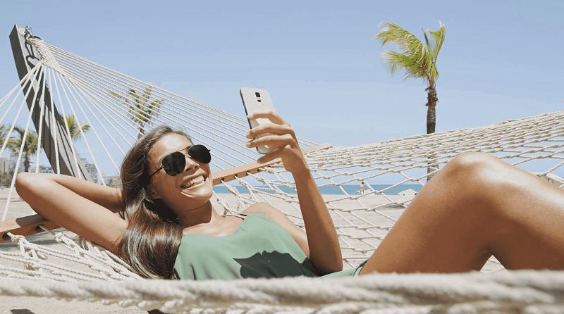 Usar o celular em Acapulco no México