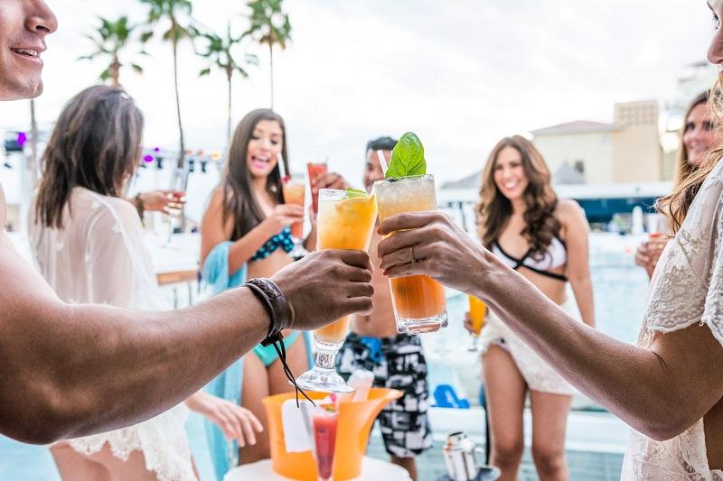 Drinks no Blue Marlin Ibiza Los Cabos