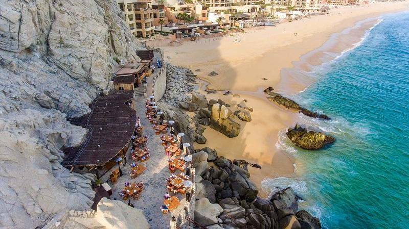 Restaurante El Farallon no verão em Los Cabos