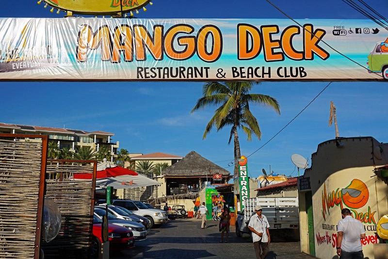 Fachada do Mango Deck Restaurant, Bar & Beach Club