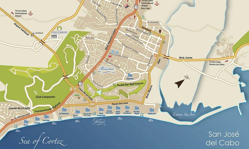 Mapa de San José del Cabo