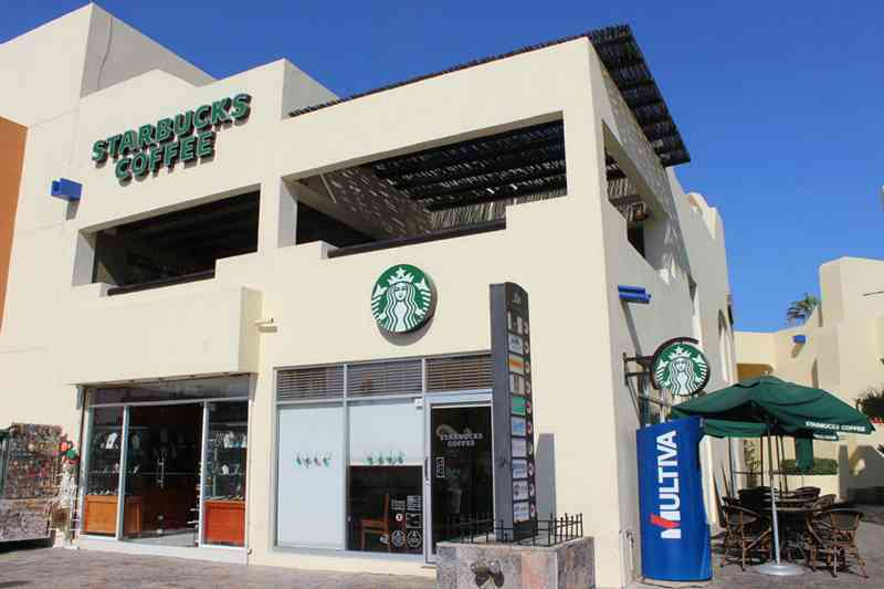 Starbucks no Shopping Plaza Bonita em Los Cabos