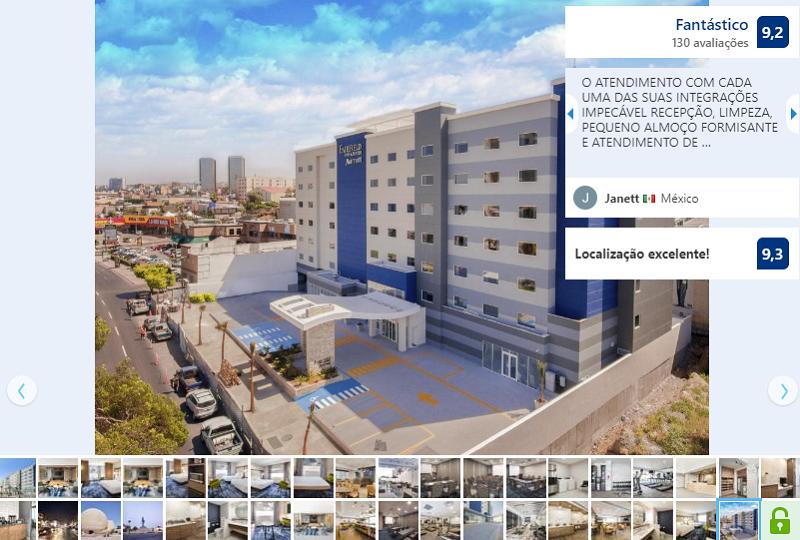 Fachada do Hotel Fairfiel Inn & Suites by Marriott Tijuana em Tijuana