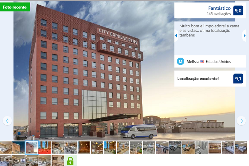 Fachada do Hotel City Express Plus Tijuana em Tijuana