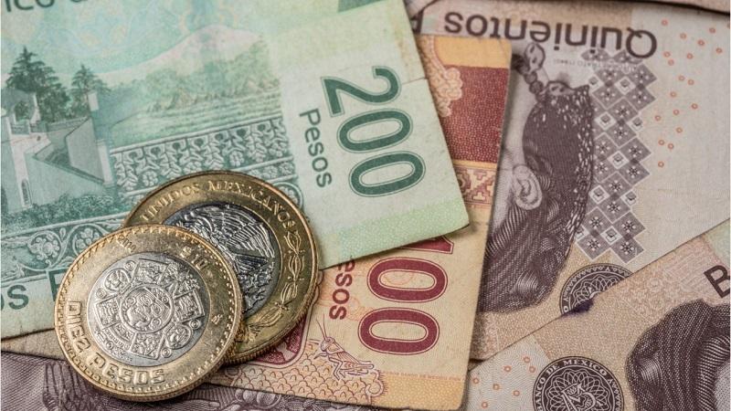 Peso mexicano em moeda e espécie