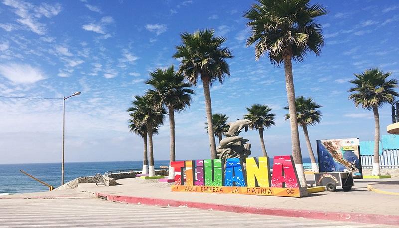 Placa da cidade Tijuana no México