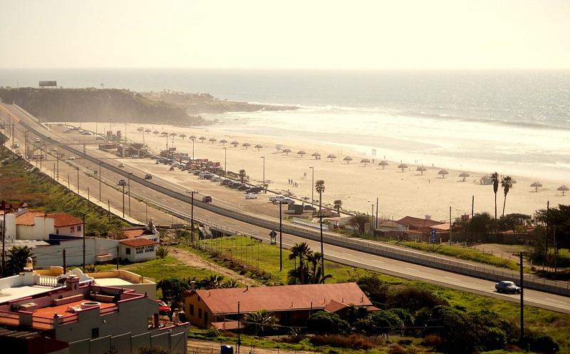 Beleza da praia Enseada em Tijuana