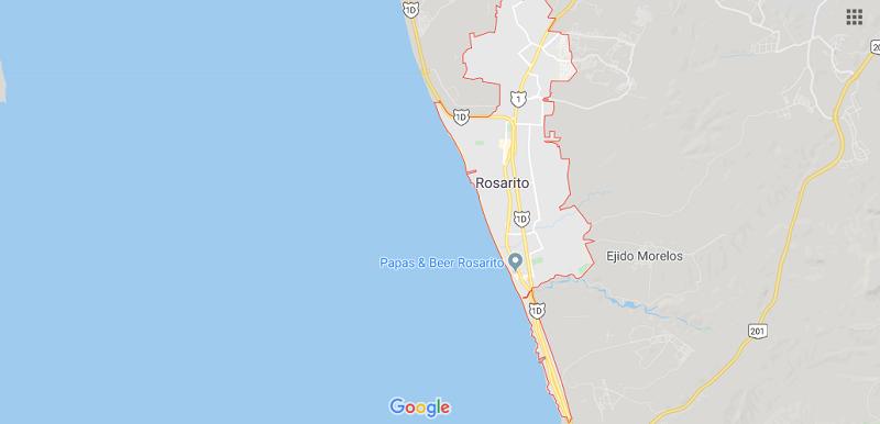 Mapa de Rosarito