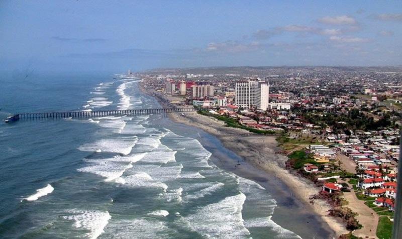 Cidade Rosarito próxima de Tijuana