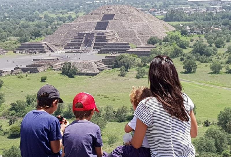 Família na Cidade do México
