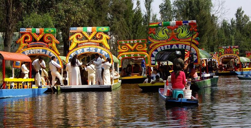 Passear no Xochimilco na Cidade do México