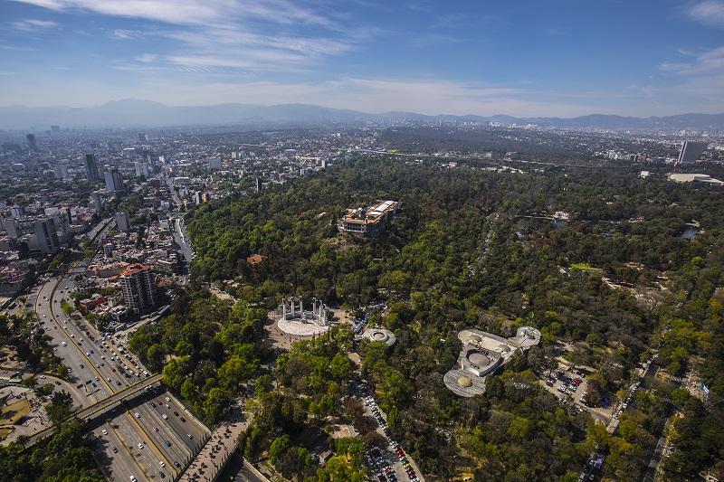 Bosque Chapultepec na Avenida Paseo de La Reforma