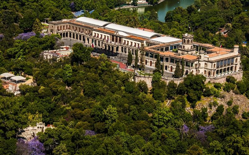 Castelo de Chapultepec na Cidade do México