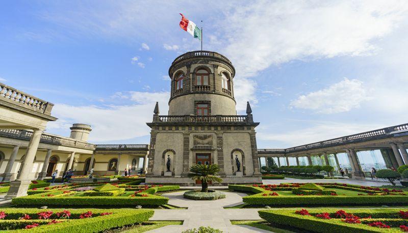 Beleza do Castelo de Chapultepec na Cidade do México