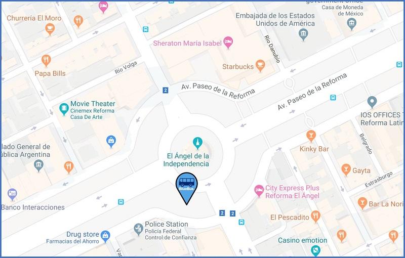Mapa Avenida Paseo de La Reforma