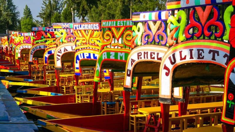 Passeio por Xochimilco na Cidade do México